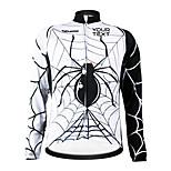 KOOPLUS Bike/Cycling Jersey / Customized Women's / Men's / Unisex Long Sleeve Waterproof Zipper / Wearable / Windproof PolyesterWhite /