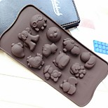 Hai Bao Shape Cake Mold Ice Jelly Chocolate Mold,Silicone 21.2×10.5×1.5 CM(8.3×4.1×0.7 INCH)