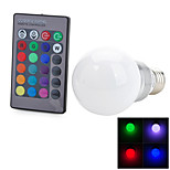 Marsing B22/E26/E27 3 W 1 COB 100-200 LM Color-Changing Remote-Controlled Globe Bulbs AC 100-240 V
