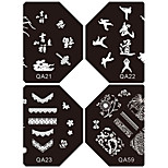 1PC New Design Nail Stamping Image Plates Suki Frenchy Plate for DIY Nail Art Decorations(Assorted Pattern)
