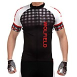 WOLFBIKE Men's Summer Quick Dry Breathable Cycling Short Sleeve Jersey-Black