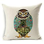 1 pcs Cotton/Linen Pillow Cover,Animal Print Modern/Contemporary