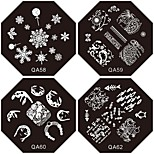 1PC New Nail Stamping Image Plates Tropic Suki Flower Plate for DIY Nail Art Decorations(Assorted Pattern)