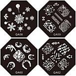 Novo prato de flor unhas carimbar placas de imagem trópico suki 1pc para a decoração da arte do prego de DIY (padrão sortidas)