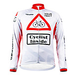 KOOPLUS Unisex Customized Spring Autumn Long Sleeve Polyester Cycling Jersey - White and Red