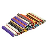50PC SAnimal Pattern 3D Cane Stick Rod Sticker Mixs Color Nail Art Decoration