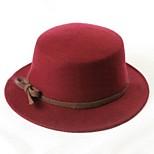 Women Tweed/Wool Fedora Hat , Casual Winter