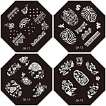 1PC New Design Nail Stamping Image Plates Lovely Fashion Flower Plate for DIY Nail Art Decorations(Assorted Pattern)