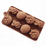 8 Hole Rabbit Easter Egg Shape Cake Mold Ice Jelly Chocolate Mold