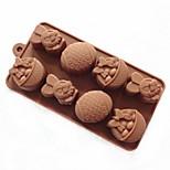 8 tana del coniglio muffa della gelatina della muffa della torta di figura uovo di Pasqua gelato al cioccolato