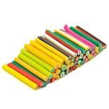 50pcs fruits motif autocollant de tige de canne bâton 3d mixs ongles de couleur décoration d'art