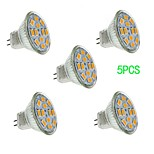 5 pcs JUXIANG GU4 5 W 12 SMD 5730 560 LM Warm White/Cool White MR11 Decorative Spot Lights DC 12 V
