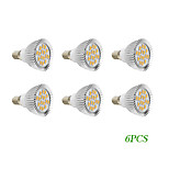6 pcs E14/GU10 4 W 16 SMD 5730 280 LM Warm White/Cool White Spot Lights AC 220-240/AC 110-130 V