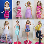 Princess Costumes For Barbie Doll Purple / White Lace Dresses / Skirts / Pants / Tops For Girl's Doll Toy