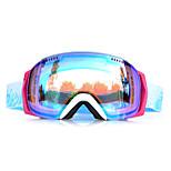 BASTO Windproof White Frame Blue Sensor Skiing Snow Goggles