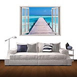 3D Wall Stickers Wall Decals, Seaside Casual Decor Vinyl Wall Stickers