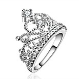 RingFashionable / Bohemia Style Party / Daily Jewelry Zircon / Silver Plated 6 / 7 / 8 Women 1pcBand Rings Silver