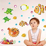 Bathroom Sticker Wall Stickers Wall Decals, Lovely Fish PVC Bathroom Sticker