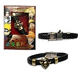 BLEACH Punk Style PU Leather Bracelet Cosplay Accessory