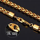 U7® Twisted Rope Link Bracelet 18K Real Gold Plated Chain Bracelet for Men Fashion Jewelry