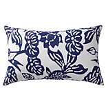 Modern Floral Cotton Decorative Pillow Cover