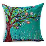 árvore de algodão floral / fronha decorativo linho