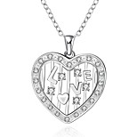 Cremation jewelry 925 sterling silver Heart Shape with LOVE Pendant Necklace for Women