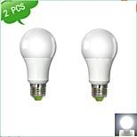 2 pcs DUXLITE E26/E27 12 W 1 COB 1160 LM Warm White/Cool White A Globe Bulbs AC 100-240 V