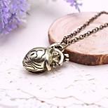 унисекс моды полого кулон сердце сплава ожерелье (золотые, серебряные) (1 шт)