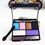 6 Eyeshadow Palette Matte / Shimmer Eyeshadow palette Powder Normal