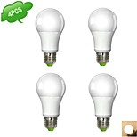 4 pcs DUXLITE E26/E27 9 W 1 COB 850 LM Warm White/Cool White A Globe Bulbs AC 100-240 V