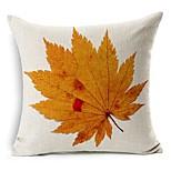 Autumn Leaf Cotton/Linen Decorative Pillow Cover