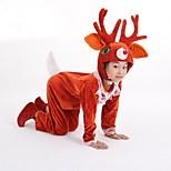 Little Reindeer Pleuche Leotard Kids Carnival Costume