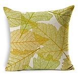 Country Leaves Cotton/Linen Decorative Pillow Cover