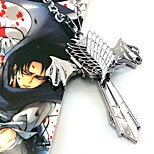 Jóias Inspirado por Attack on Titan Fantasias Anime Acessórios de Cosplay Colares Prateado Liga Masculino