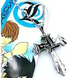 Gioielli Ispirato da Death Note Cosplay Anime Accessori Cosplay Collane Argento Lega Uomo