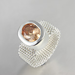 2016 Fashion Luxury Mesh Creative Cat's Eye Sterling Silver Band Ring For Women