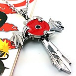 Jewelry Inspired by Naruto Cosplay Anime Cosplay Accessories Necklace Red / Silver Alloy Male