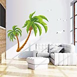 Wall Stickers Wall Decals, Natural Big Coconut Palm PVC Wall Stickers