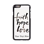 Personalized Phone Case - Faith Hope Love Design Metal Case for iPhone 6 Plus