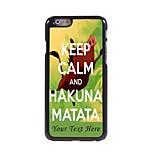 Personalized Phone Case - HAKUMA MATATA Design Metal Case for iPhone 6 Plus