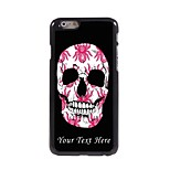 Personalized Phone Case - Flower Skull Design Metal Case for iPhone 6 Plus
