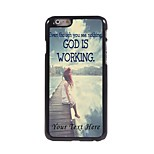 Personalized Phone Case - God is Working Design Metal Case for iPhone 6 Plus