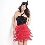 Saloon Girl Fiery Red Flapper Women's Carnival Costume