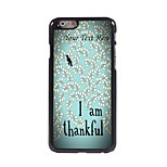 Personalized Phone Case - I am Thankful Design Metal Case for iPhone 6 Plus