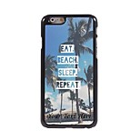 Personalized Phone Case - Eat Beach Sleep Repeat Design Metal Case for iPhone 6 Plus
