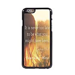 Personalized Phone Case - Never too Late Design Metal Case for iPhone 6 Plus