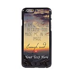 Personalized Phone Case - I am Beautiful Design Metal Case for iPhone 6 Plus