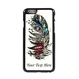 Personalized Phone Case - Feather Design Metal Case for iPhone 6 Plus