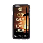 Personalized Phone Case - Keep Calm and Love Jesus Design Metal Case for iPhone 6 Plus